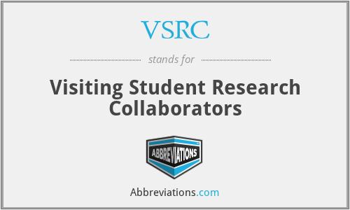 VSRC - Visiting Student Research Collaborators