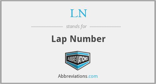 LN - Lap Number