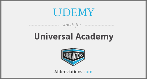 What does UDEMY stand for?