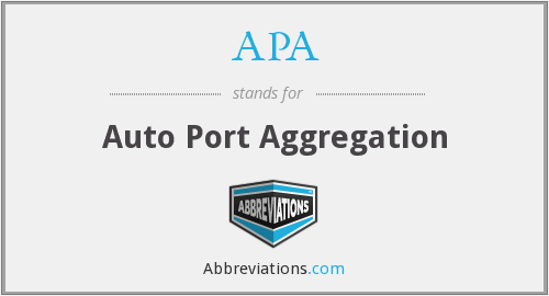 APA - Auto Port Aggregation