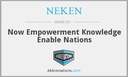 What does NEKEN stand for?