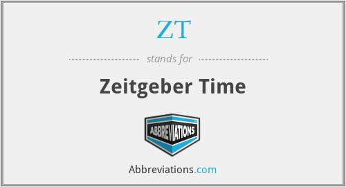 ZT - Zeitgeber Time