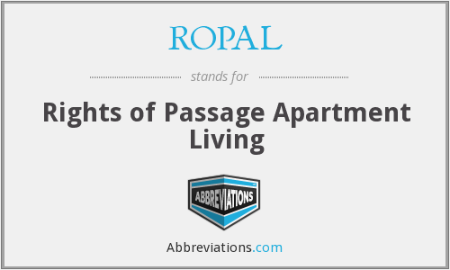 ROPAL - Rights of Passage Apartment Living