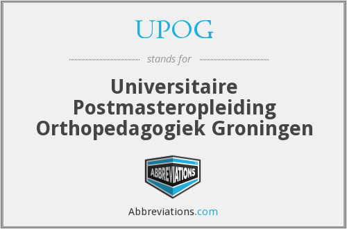 What does UPOG stand for?