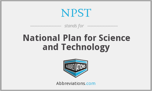 NPST - National Plan for Science and Technology