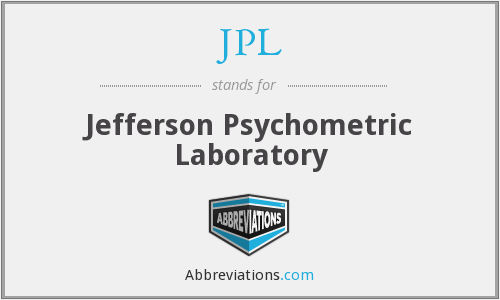 JPL - Jefferson Psychometric Laboratory