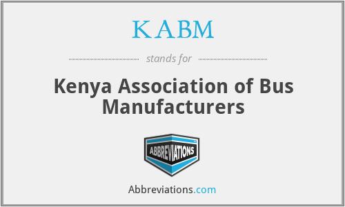 KABM - Kenya Association of Bus Manufacturers