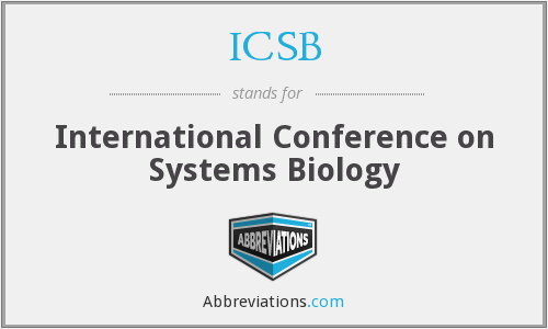 ICSB - International Conference on Systems Biology