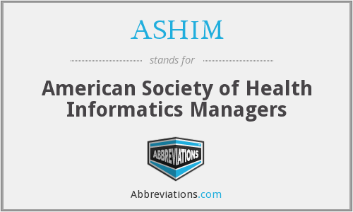 What does ASHIM stand for?
