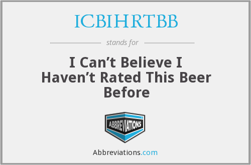 What does ICBIHRTBB stand for?
