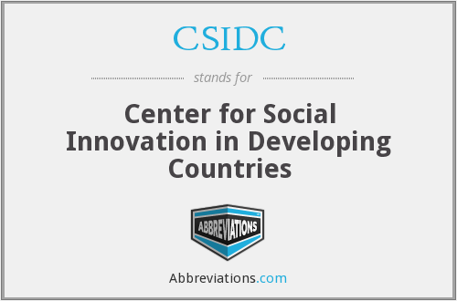 CSIDC - Center for Social Innovation in Developing Countries