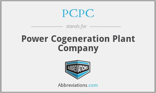 PCPC - Power Cogeneration Plant Company