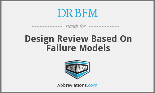 DRBFM - Design Review Based On Failure Models