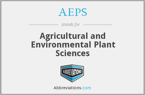 AEPS - Agricultural and Environmental Plant Sciences