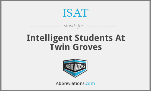 ISAT - Intelligent Students At Twin Groves
