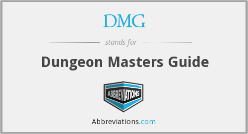 DMG - Dungeon Masters Guide