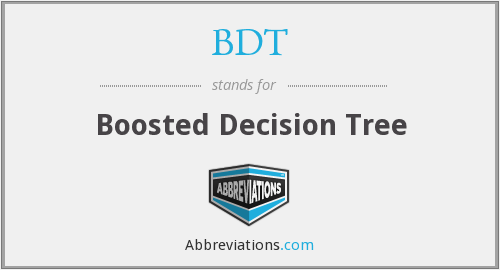 BDT - Boosted Decision Tree