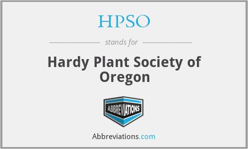 HPSO - Hardy Plant Society of Oregon