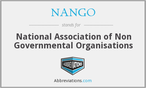 What does NANGO stand for?