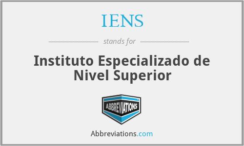 IENS - Instituto Especializado de Nivel Superior
