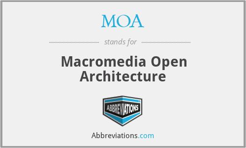 MOA - Macromedia Open Architecture