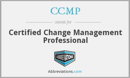 CCMP - Certified Change Management Professional