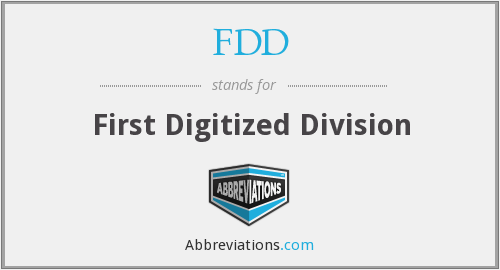 FDD - First Digitized Division