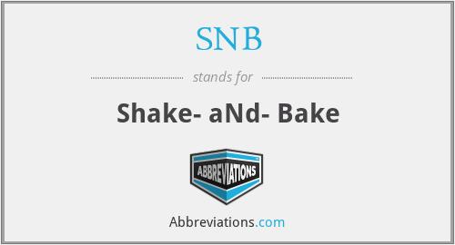 SNB - Shake- aNd- Bake