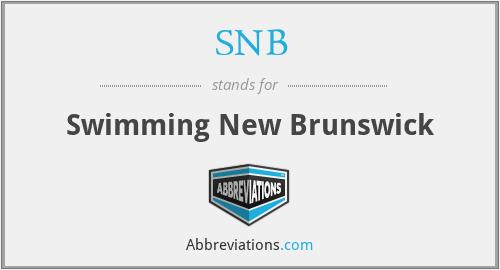 SNB - Swimming New Brunswick