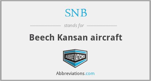 SNB - Beech Kansan aircraft