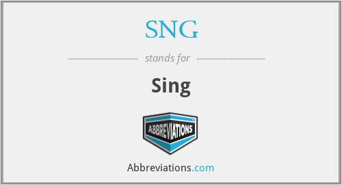 SNG - Sing