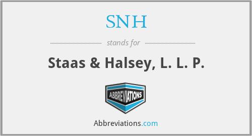 SNH - Staas & Halsey, L. L. P.