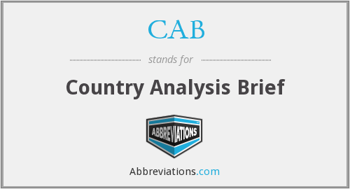 CAB - Country Analysis Brief