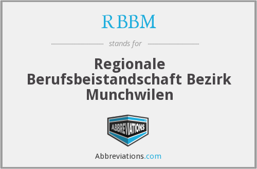 What does RBBM stand for?
