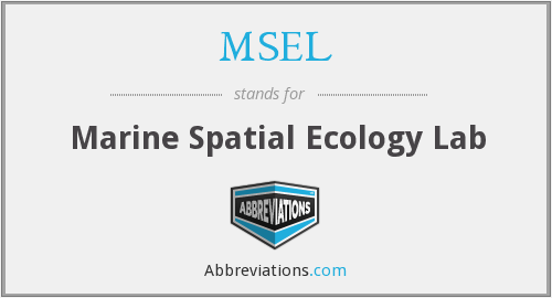 MSEL - Marine Spatial Ecology Lab