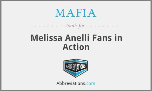 MAFIA - Melissa Anelli Fans in Action
