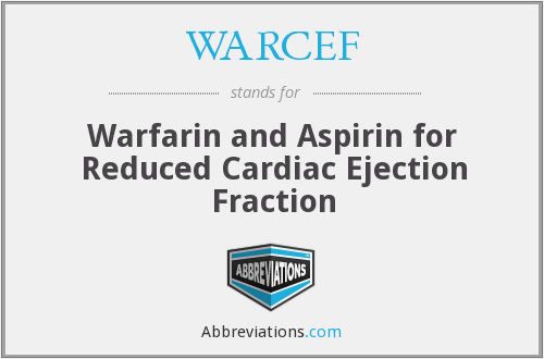 What does WARCEF stand for?