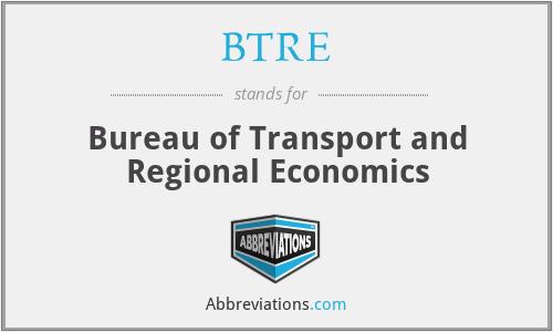 BTRE - Bureau of Transport and Regional Economics