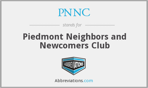 PNNC - Piedmont Neighbors and Newcomers Club
