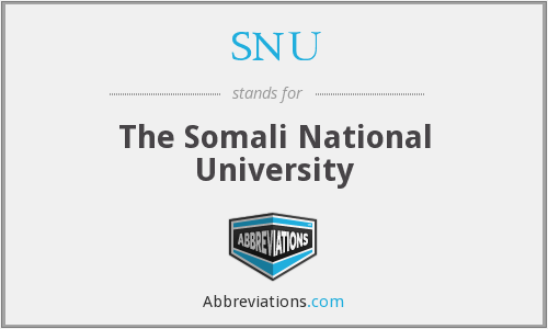 SNU - The Somali National University