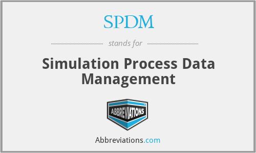 SPDM - Simulation Process Data Management