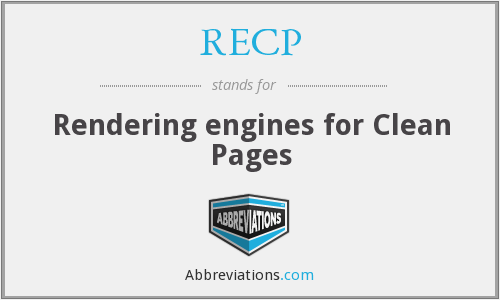 RECP - Rendering engines for Clean Pages