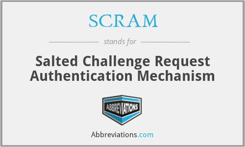 SCRAM - Salted Challenge Request Authentication Mechanism