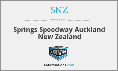 SNZ - Springs Speedway Auckland New Zealand