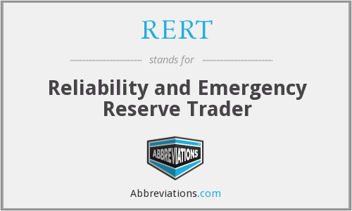 RERT - Reliability and Emergency Reserve Trader