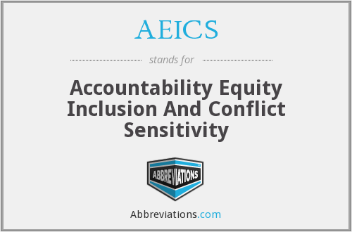 AEICS - Accountability Equity Inclusion And Conflict Sensitivity