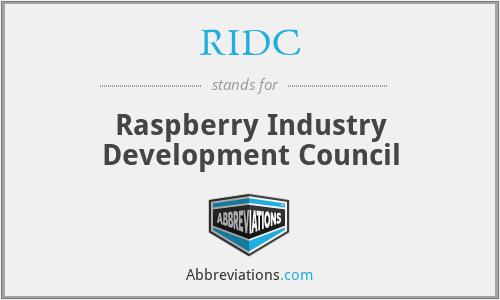 RIDC - Raspberry Industry Development Council