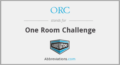 ORC - One Room Challenge
