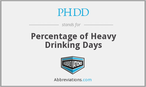 PHDD - Percentage of Heavy Drinking Days