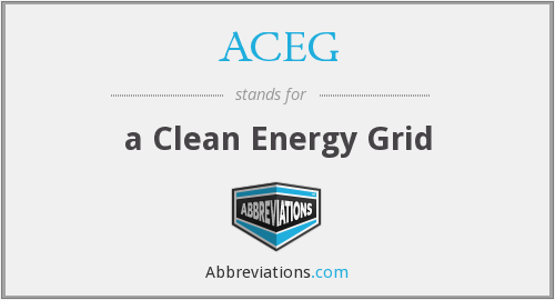 ACEG - a Clean Energy Grid